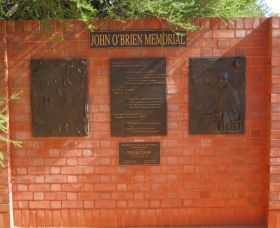John OBrien Commemorative Wall - Accommodation Kalgoorlie