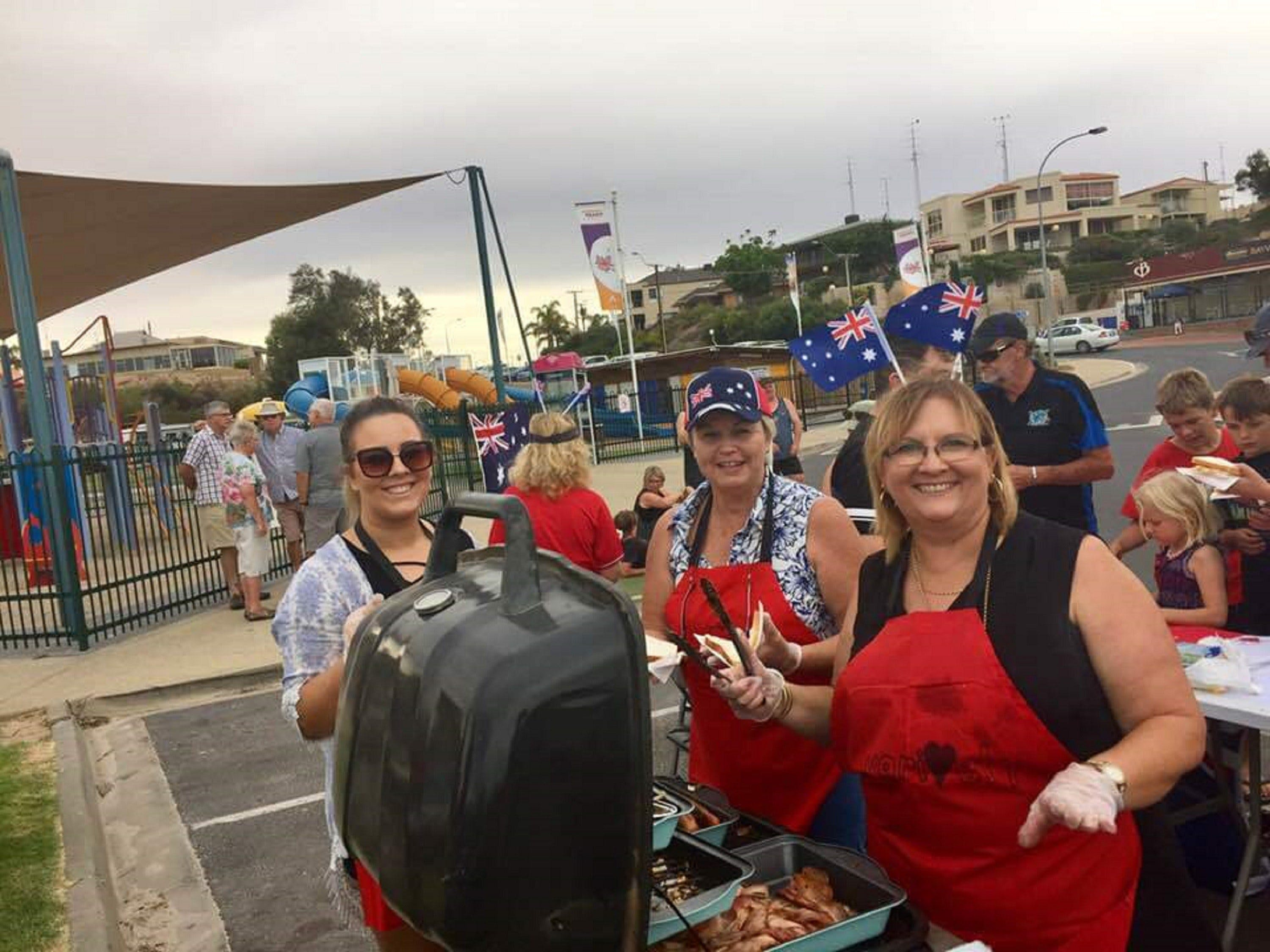 Australia Day BBQ Breakfast  Moonta Bay - Accommodation Kalgoorlie