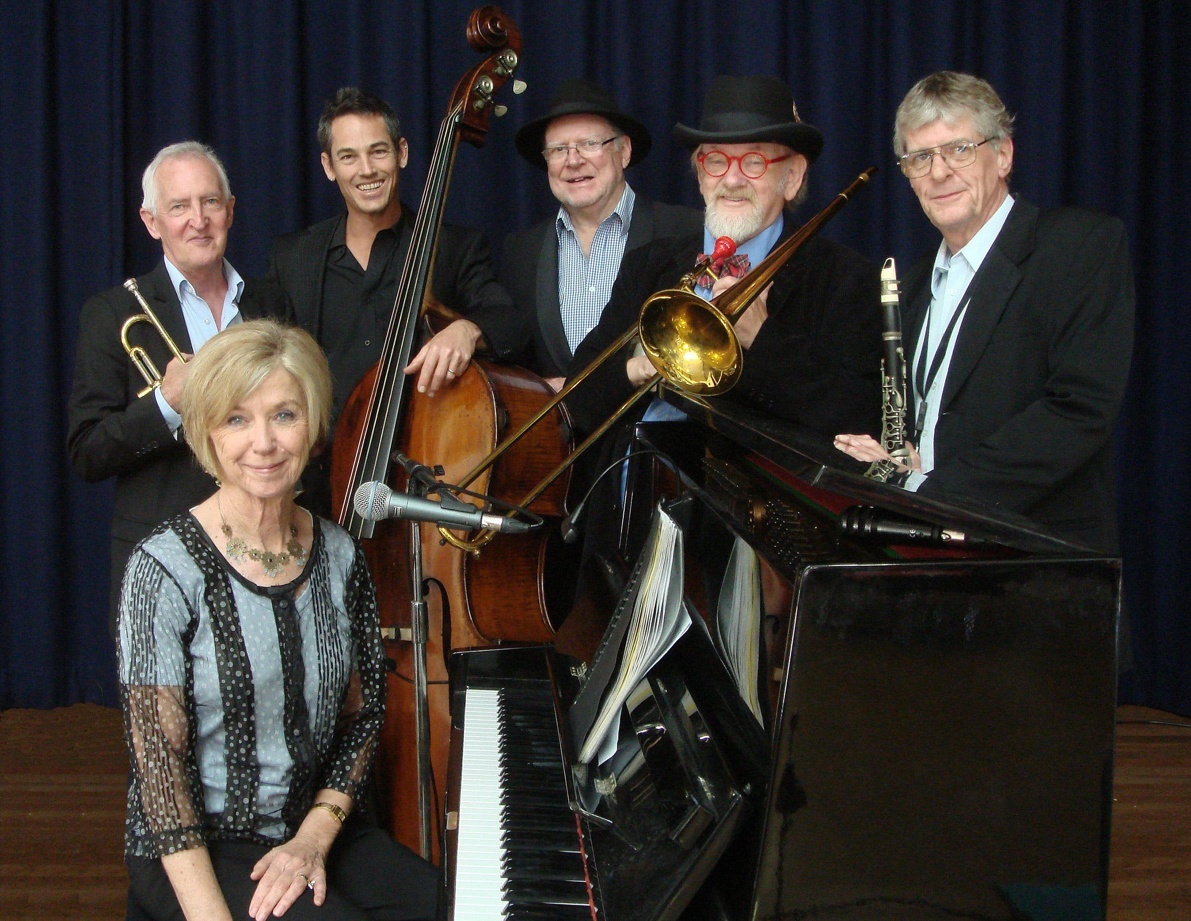 The Caxton Street Jazz Band in the Swigmore Hall at Robert Channon Wines - Accommodation Kalgoorlie
