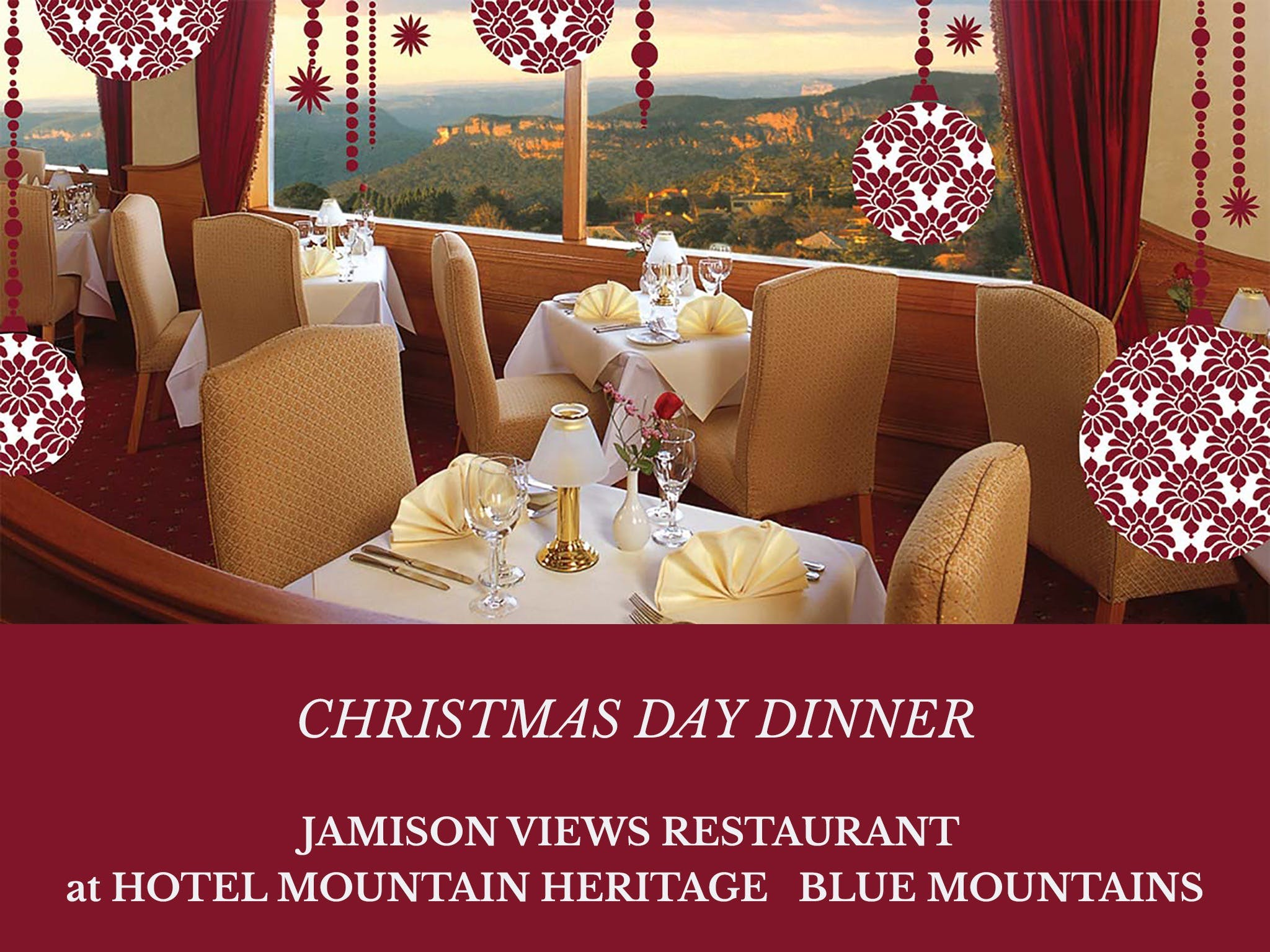 Christmas Day Dinner Hotel Mountain Heritage - Accommodation Kalgoorlie